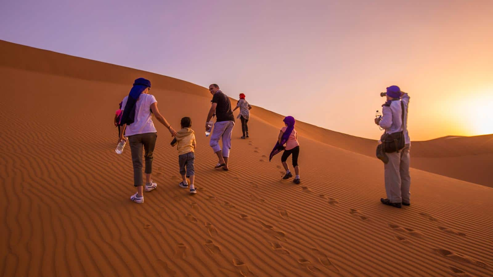 family in Sahara